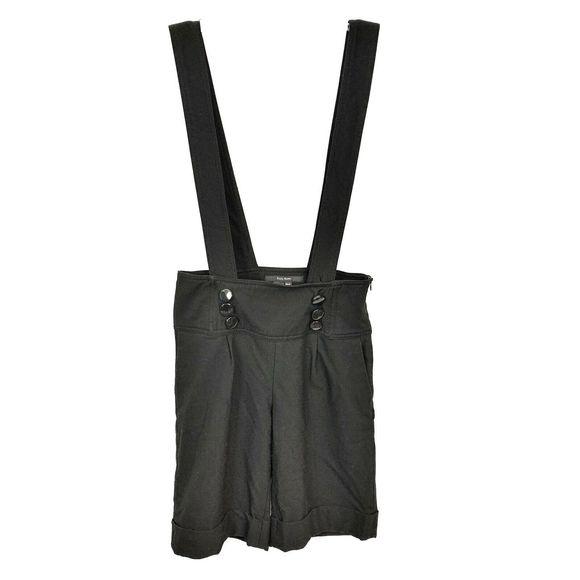 Zara Pants - Zara Basic Black Cuffed Overall Shorts XS